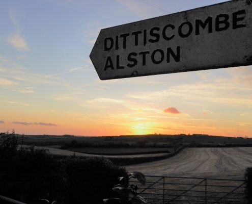 Dittiscombe Holiday Cottages sign